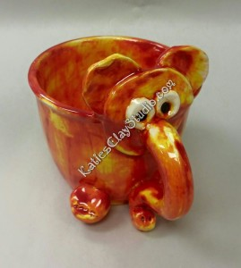 elephant cup clay