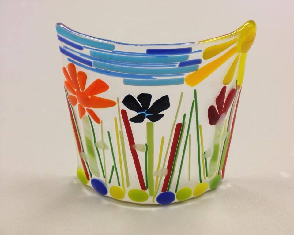 sunny day flower glass