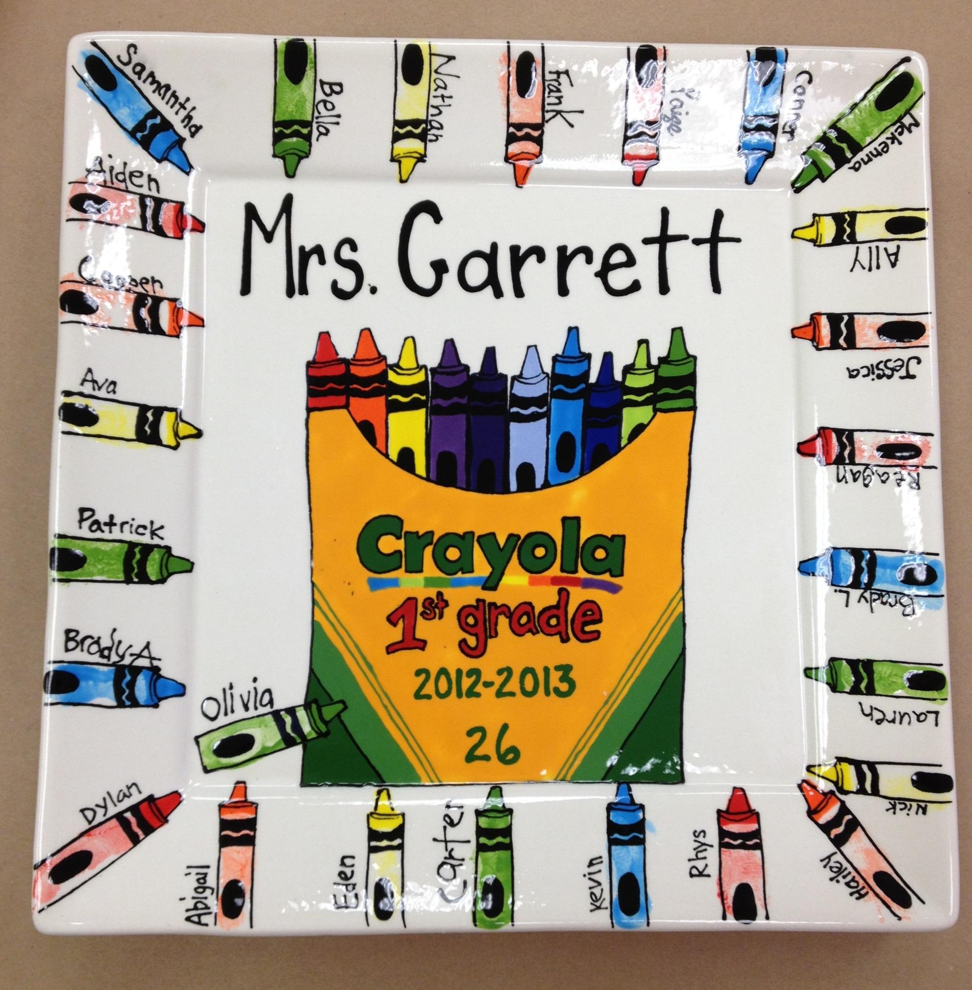 Crayon Platter