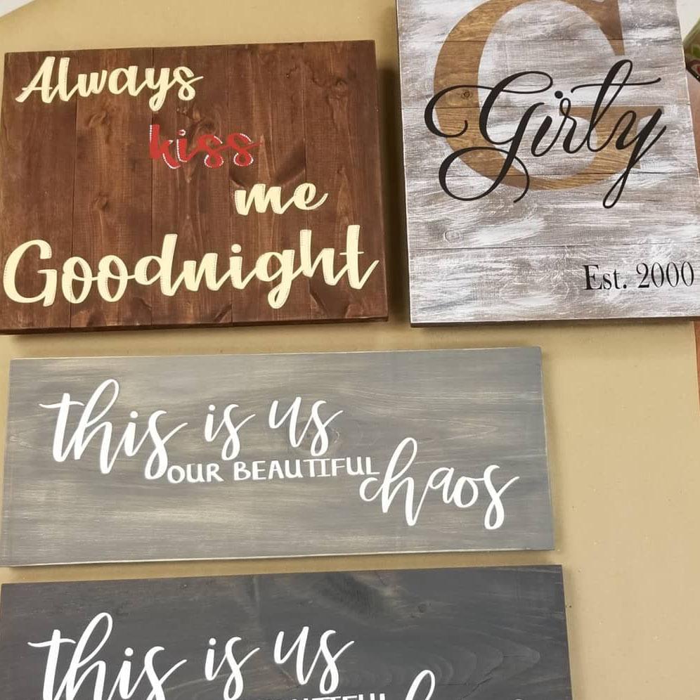 Board / Pallet Wood Art - Katie's Clay Studio